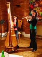 harpist Verity Weatherburn & flautist Carla Sousa. Nov '07